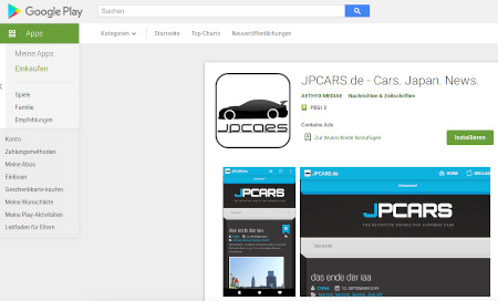Screenshot Re-Upload JPCARS, Google Play Store