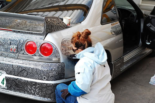 car art: edding auf skyline gtr