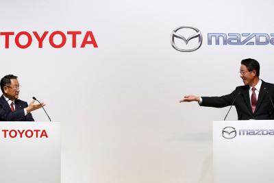 Toyota und Mazda: die Herren Präsidenten